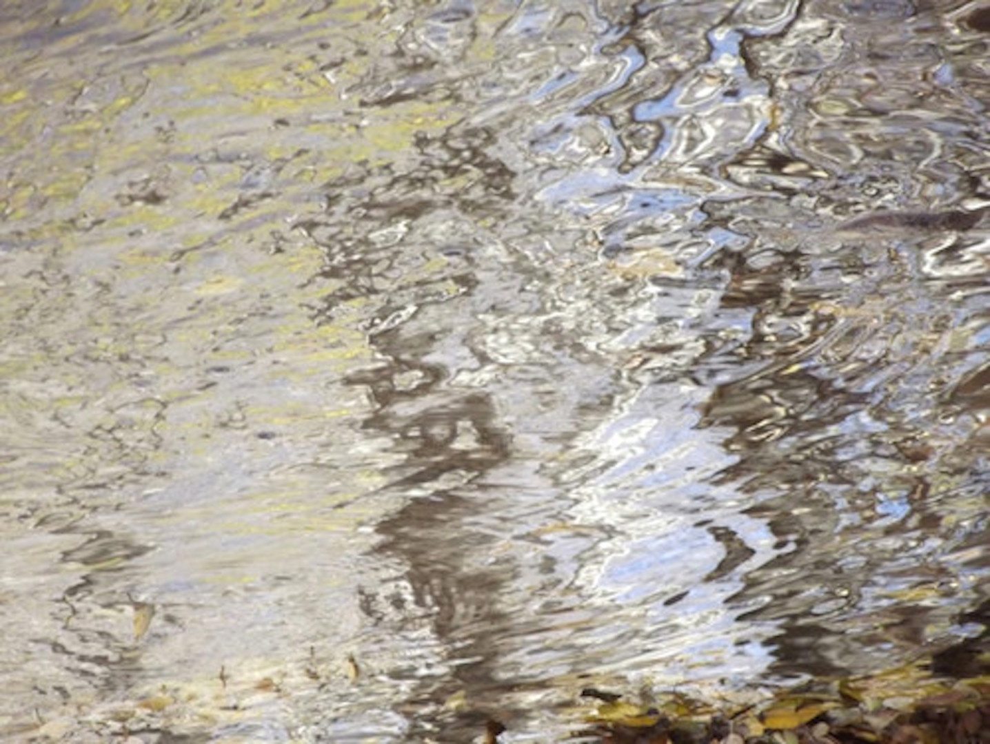 """Curtis H. Jones - ABSTRACT NATURE XI: """"Gold River"""", Large Canvas"""