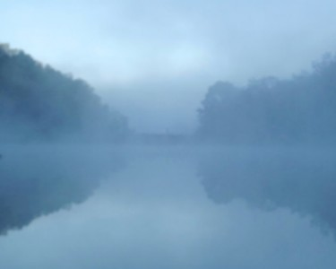 "LANDSCAPE: ""Mists VIII -Blue Moment"", Large Canvas"